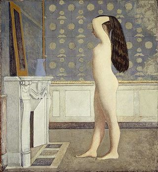 Balthus, Nude Before a Mirror, 1955